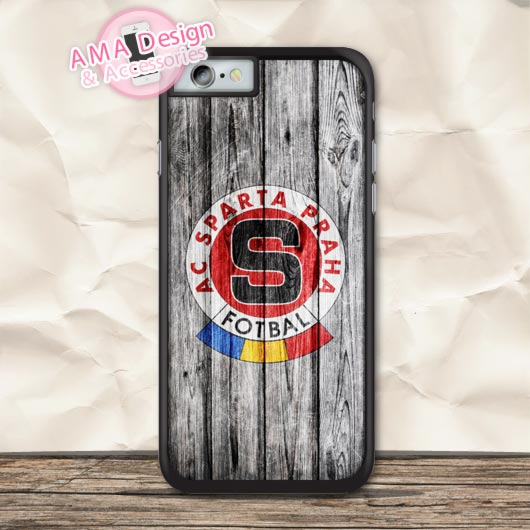 Sparta Prague Club Wood Style Protective Case For iPhone X 8 7 6 6s Plus 5 5s SE 5c 4 4s For iPod Touch