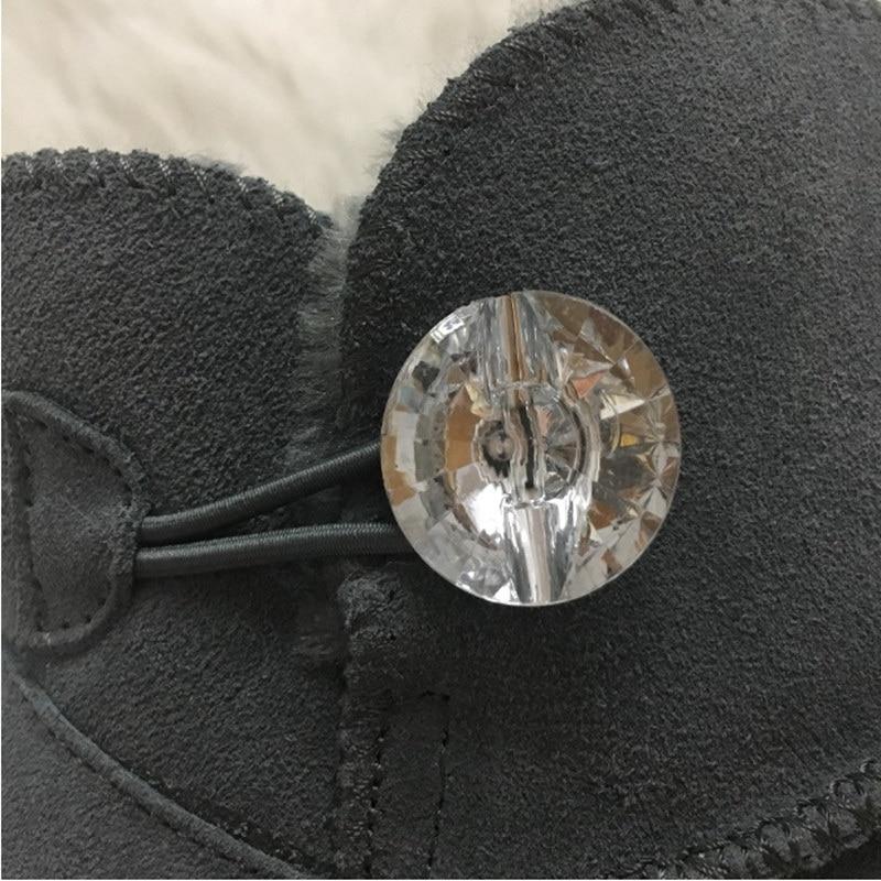 002 Cristal Suédé 001 Hiver Bouton Ivg Bottes amp; Marque En Neige Cuir Logo De 14 3 Australie Style Femmes Taille Cheville PXqwwRp
