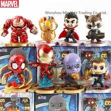 Hasbro Avengers 8pcs/set  Spider-Man Iron Man Captain America Thanos Model toys