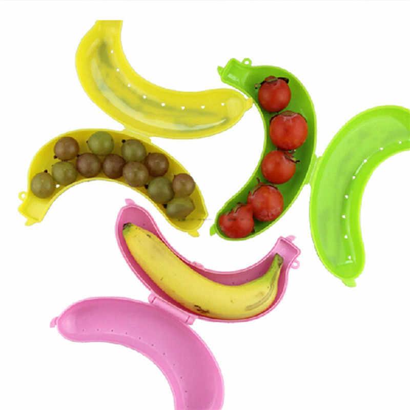 Bonito 3 Cores de Frutas Banana Protector Caso Titular Caixa de Armazenamento Recipiente Almoço proteger caso fruit &