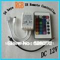 24 Key IR Remote Control For RGB Led Strip Light SMD 3528 5050 5630 3014 Controller Box Input DC 12V Output 6A
