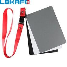 LBKAFA Tamanho Grande (17*12 cm) Câmera Digital Branco Preto Cinza Balance Cards 18% Cartão Cinza com Alça de pescoço para a Fotografia Digital