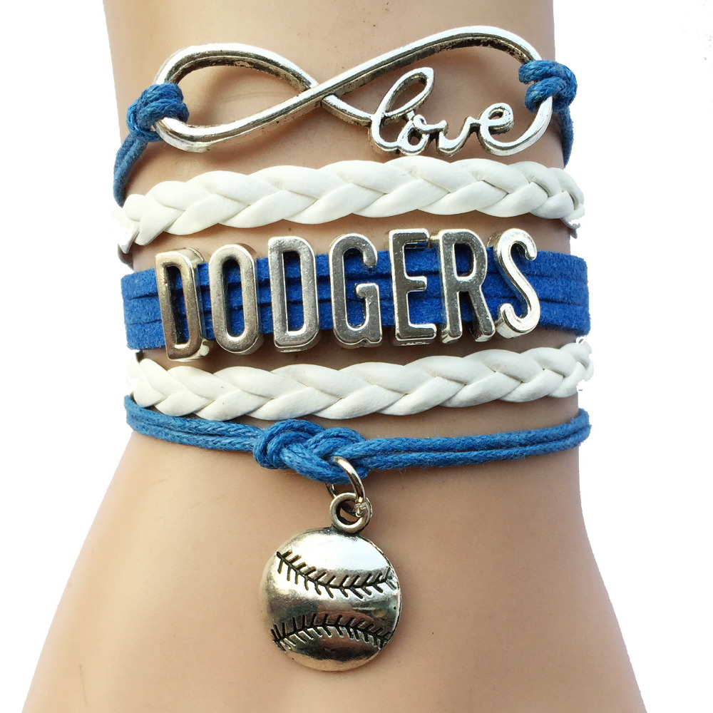 Drop Shipping Infinity Love Los Angeles Dodgers Bracelet Custom Baseball Team Bracelets In Charm From Jewelry Accessories On Aliexpress