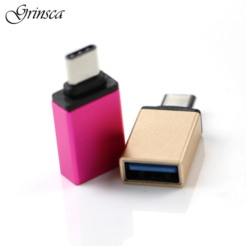 OTG USB Type C Type-C Male To USB 3.0 Female Adapter Converter Connector for MacBook Tablets for Oneplus 3 for XIAOMI best price portable usb 2 0 type a male to usb type b female plug extend printer adapter converter new arrival for