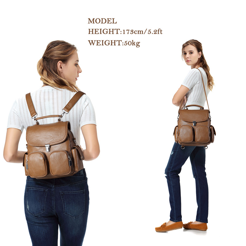Image 2 - VASCHY Women Backpack Purse Anti Theft Cute Small Mini  Convertible PU Leather Backpack Shoulder Bag for Ladies Teen  GirlsBackpacks
