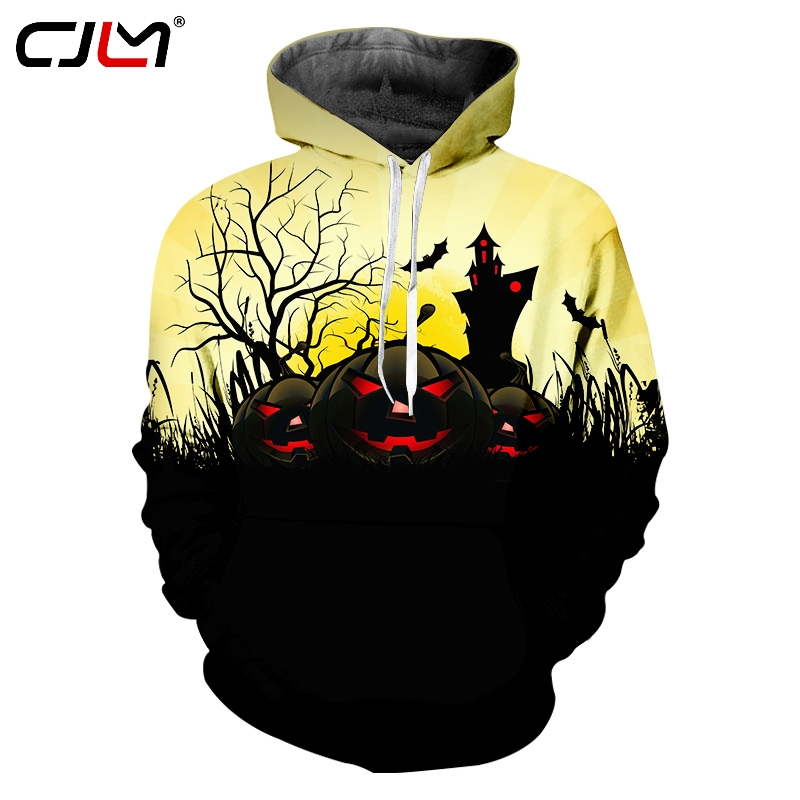 Men's Clothing Fashion Style Cjlm Halloween Pumpkin Tee Shirt 3d Printed Flame Scarecrow Mens Polyester V Neck Tshirt Direct Selling Man Tracksuit