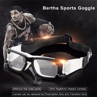 Bertha Outdoors Safety Sports Goggles Prescription RX Protective Glasses For Basketball Football Volleyball Baseball Ect 1006