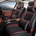 De cuero cubierta de asiento de coche Para Skoda Octavia 2 a7 a5 Fabia Superb Yeti Rápida super coche accesorios del coche de estilo