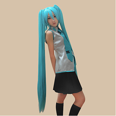 Vocaloid هاتسون ميكو 2 ذيل الحصان تأثيري الباروكة