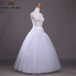 Image 5 - NOBLE WEISS dessous de jupe de mariage en Tulle, accessoires Chemise sans cerceau pour robe de mariée, jupon Crinoline, tendance 2019