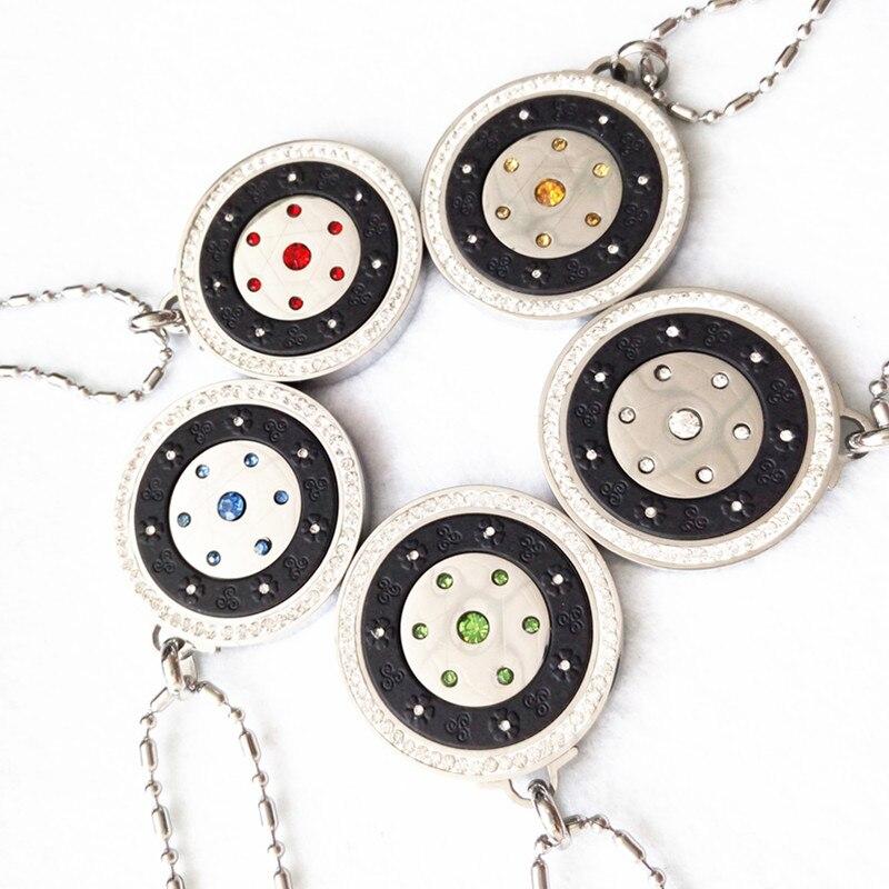 50pcs Wholesales Quantum Pendant Negative IONS Energy Pendant Charms 5 Color With HQ Retail Package Box