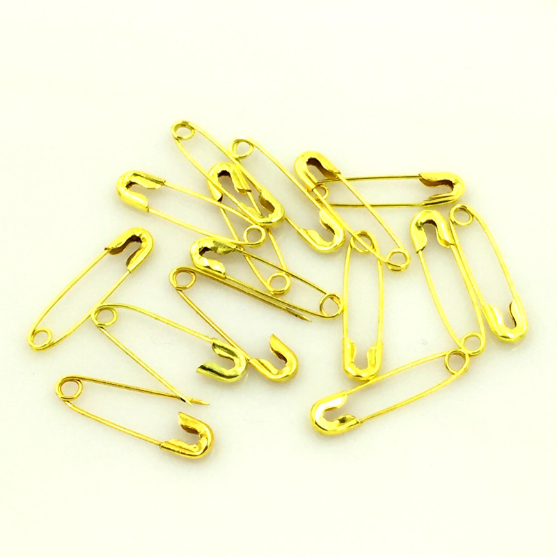 5000Pcs Wholesale Gold Plated Metal Safety Pins Brooches DIY Crafts Sewing Findings 19x4.5mm