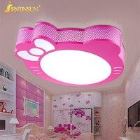 Новый милый котенок светодиодный потолочный светильник для простой творческий мультфильм мальчики девочки Потолочное освещение в спальню