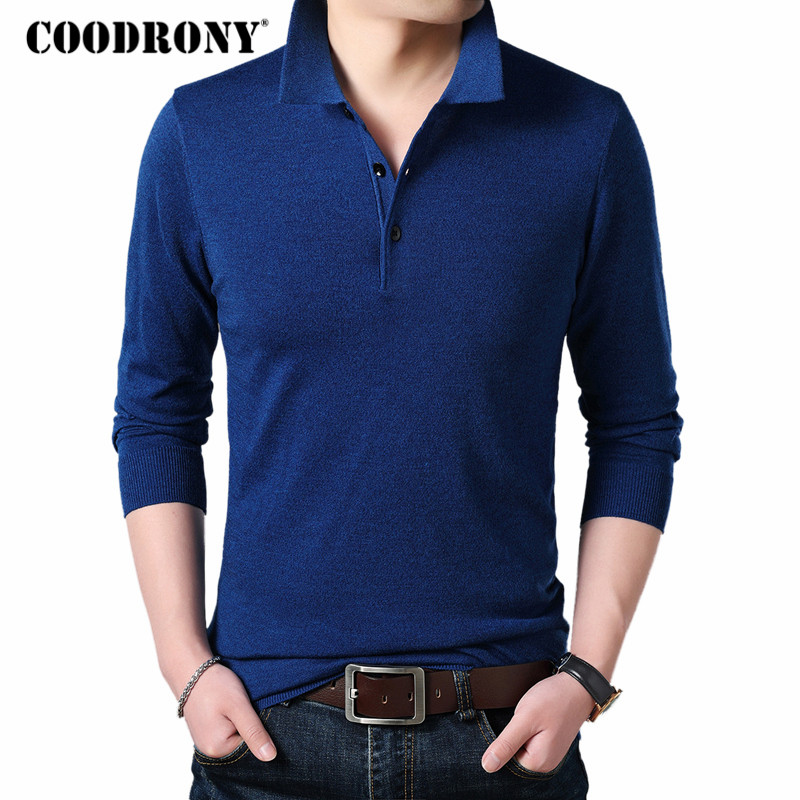 COODRONY Wool Pullover Sweaters Cashmere Men Winter Homme Thick Autumn Casual Warm Business