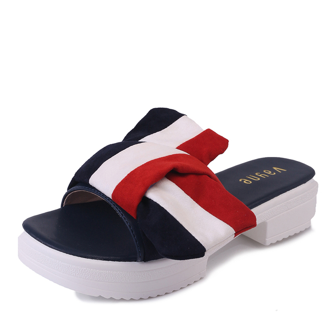 6276f2d2cd18d 2017 Summer New Fashion Shoes Woman Sexy Slippers Women Bow Tie Flip Flops  Brand Japan Style High Heel Slippers Cross Strap