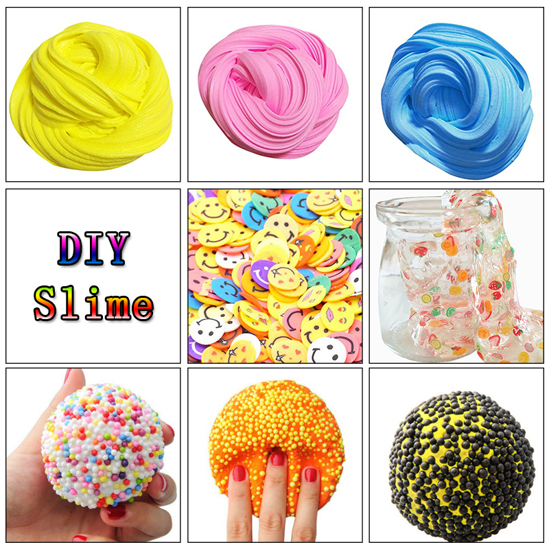 3D Fluffy Floam Slime Scented Stress Relief No Borax 2017 New Arrival Funny 50g DIY Cotton Slime Clay Education Craft Mud Toy colorful diy creative funny egg crystal mud toy for reducing stress