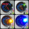Motorcycle Tachometer colorful light Motorbike Dual Odometer Speedometer Gauge Silver LED Backlight Background Signal Light 12V