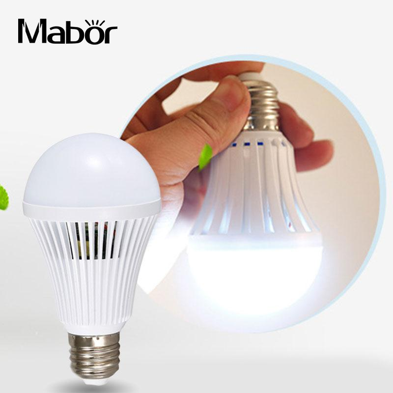 Mabor Emergency Bulb White 5W Light Bulb Home LED E27 Energy Saving Intelligent Emergency Led Bulb