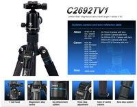 Carbon Fiber Tripod With V1 Ball head Professional Video Camera Monopod Carrying Bag .Global free shipping BENRO C2692TV1