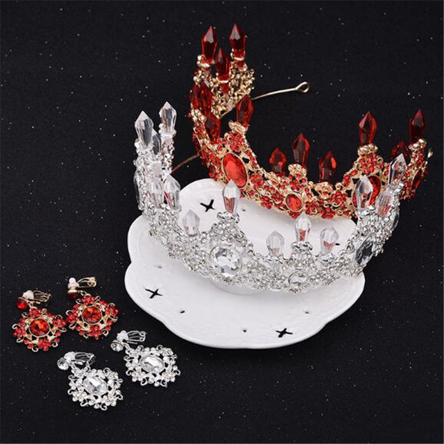 Mamojko SALE Baroque Crystal Bridal Crown Tiaras Woman New  Wedding Headwear Crystal Tiara For Bride Hair Accessoriesy Bijoux