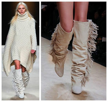 Boots With Fringe On Side