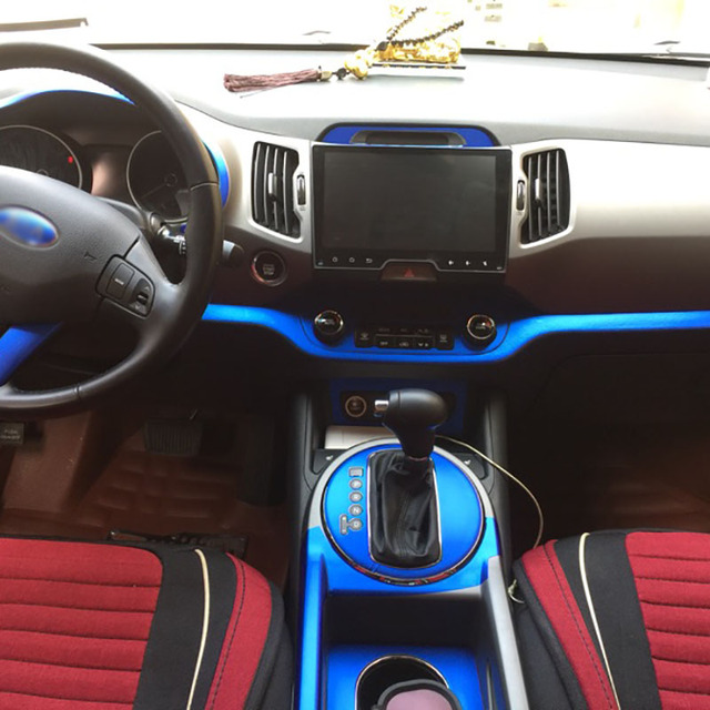 $ US $36.65 Car-Styling New 3D Carbon Fiber Car Interior Center Console Color Change Molding Sticker Decals For Kia Sportage R 2011-2015