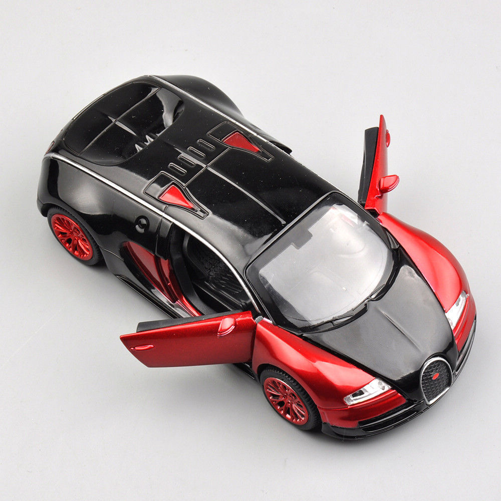 1/32 Diecast Car Collection Alloy Kid Gifts Bugatti Veyron Car Model Light&Sound ...