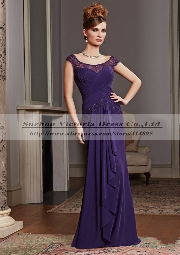 Aliexpresscom Buy Purple Elegant Mothers Dresses For Beach