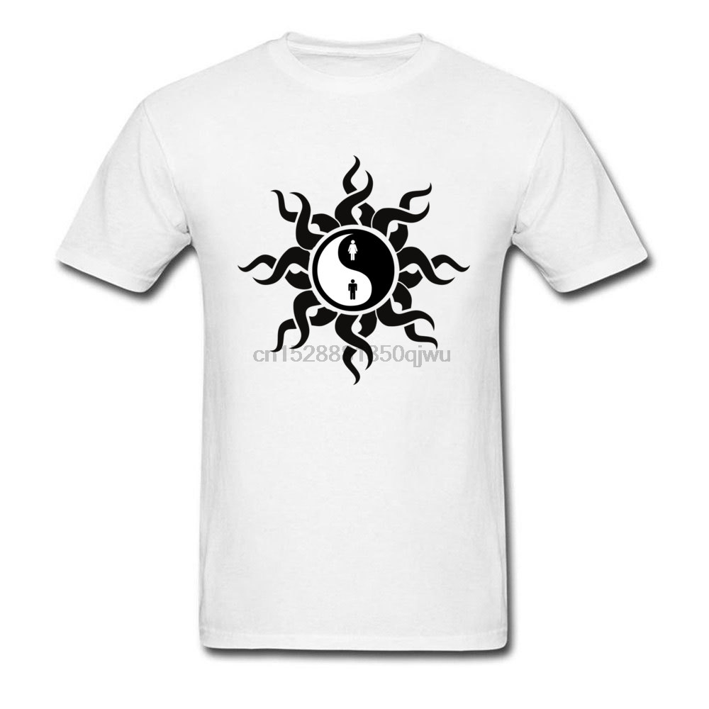 Tribal Yin Yang Man Woman T Shirt Print Short Sleeve Plain Tshirts Crewneck 100% Cotton Tops  Tees Latest Cheap Great T-Shirts