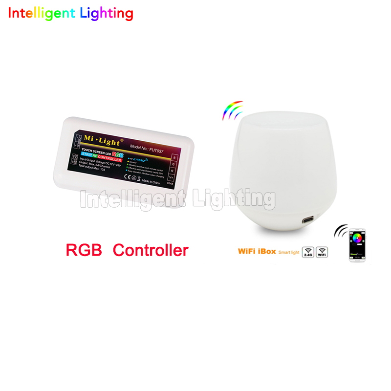 Dimmable Mi.light 2.4G touch WiFi Wireless +1x RGB LED controller 4-Zone groups control  For RGBW 5050 3528 Led Strip Light milight remote wifi 4x rgbw led controller group control 2 4g 4 zone wireless rf touch for 5050 3528 rgbw led strip light