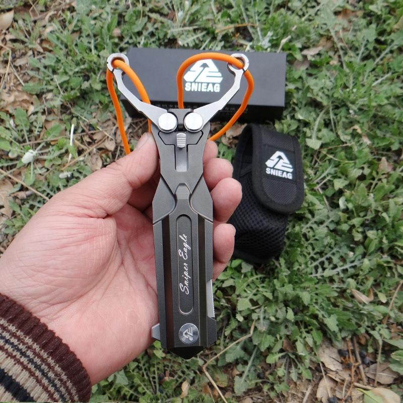 Stainless Steel Folding Knife Slingshot Outdoor Multi-functional Survival Knife Metal Competitive Self-defense Portable  Hunt