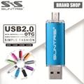 Suntrsi otg usb flash drive 64 gb pen drive usb 16 gb 8 gb caneta drive externo otg micro usb stick usb memory stick 2.0 flash card