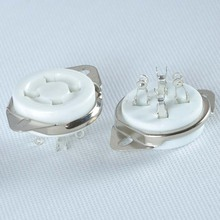 2pcs 4Pin 2A3 300B 45 50 U4A Ceramic Tube Socket Bottom promotions noble voice of t series markii tube 2a3 tii classic version single price