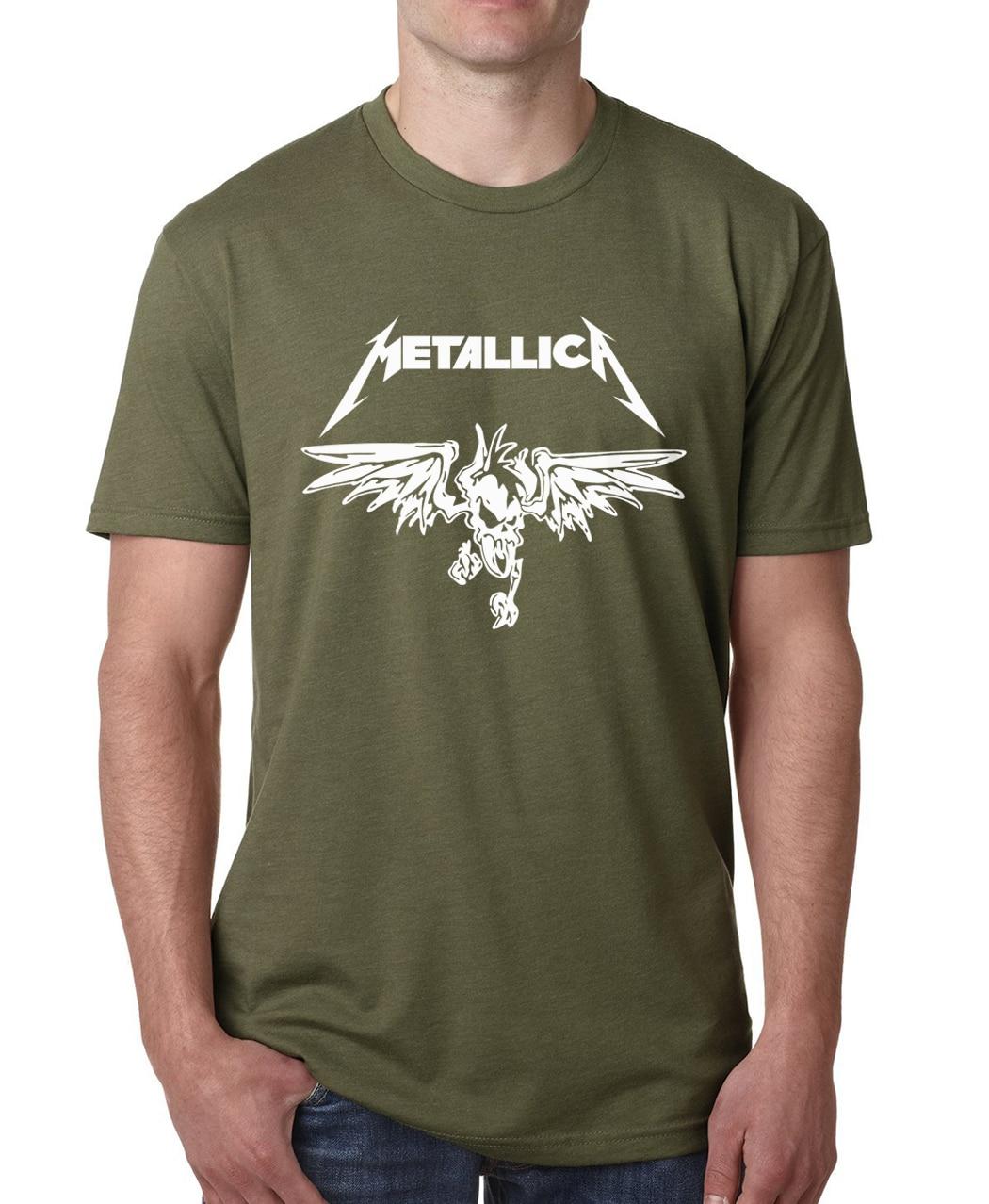 Metallica band classic heavy metal rock t shirt 2017 men for Thick t shirts brands