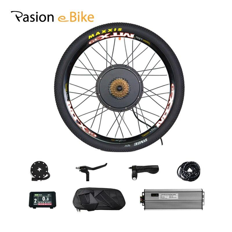 7 48 V 1500 W Kit Bicicleta Elétrica-Velocidade Da Roda Do Motor e Kit de Conversão Bicicleta 1500 W para 20 24 26 700C 28 29 polegada Kit De Motor Elétrico Roda