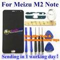 De alta calidad para meizu m2 note digitalizador de pantalla táctil + pantalla lcd para meizu m2 note teléfono móvil 1920*1080 fhd 5.5 pulgadas negro Color