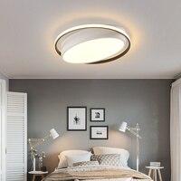 Современные Люстры светодиодный лампы для гостиной спальни кабинет Белый Черный Цвет поверхностного монтажа лампы деко AC85 265V