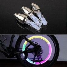 1pcs bike lights mtb mountain road bike bicycle lights LEDS Tyre Tire Valve Caps Wheel spokes LED Light auto lamp lamps BL0136