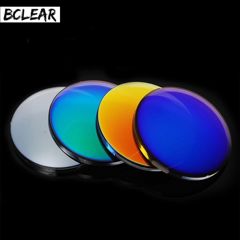 BCLEAR 1 56 Fashion Colorful Polarized UV400 Mirror Reflective Sunglasses Prescription Lenses Driving Myopia Sunglasses