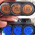 LCD Led цифровой Экран В из дверей Автомобиля Часы Термометр Календарь 3in1 подсветки Электронные Время Многофункциональный 3 в 1 YA399-SZ