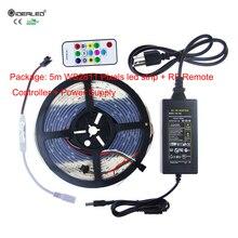 Full Color Pixel LED Strip,Christmas Ligh Set 5m Digital WS2811 RGB Strip light+Mini PF14Keys RF Remote Controller