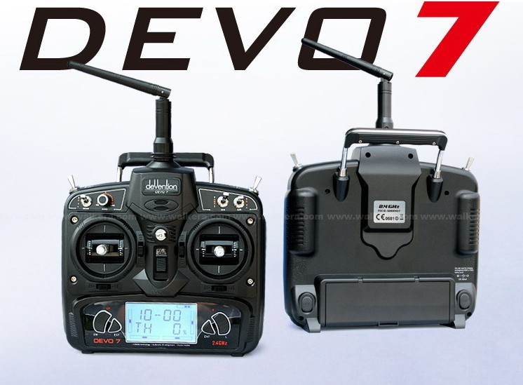 F09923 Walkera RC drone Remote Control Devo 7 DEVO7 transmitter 7 Channel DSSS 2.4G Transmiter + RX701 Receiver 1pcs walkera devo f12e devof12e transmitter fpv radio 32 channel 5 8ghz remote control with 5 lcd display for h500 x350