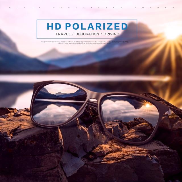 AOFLY BRAND DESIGN Classic Polarized Sunglasses Men Driving TR90 Ultralight Sunglasses Men's Goggles UV400 Gafas AF8085 1