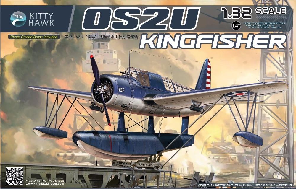 KITTY HAWK KH32016 1/32WWII U S Navy OS2U Kingfisher Aircraft kitty hawk kh80104 1 48 sepecat jaguar a plastic model kit