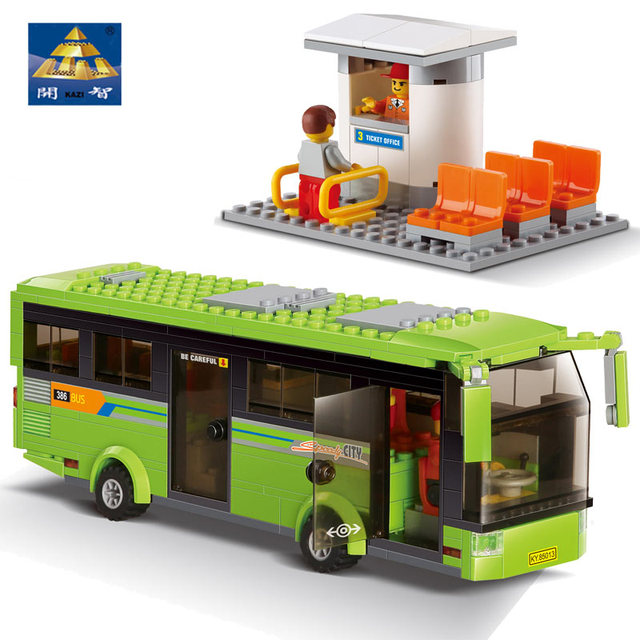 Kazi DIY Toys Children City Series Tourist Bus Model Building Blocks Learning & Educational Brinquedos For Boys And Girls