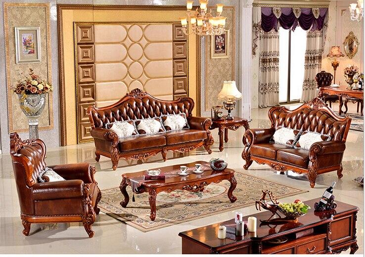 luxe bois de meubles salon canap moderne en cuir canap foshan hh903jpg - Meubles De Salon En Bois Moderne