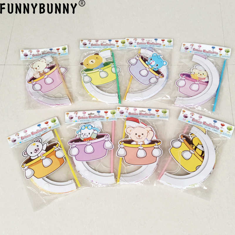 FUNNYBUNNY Birthday party decoration cartoon hot air balloon portable paper lantern party dress up charm