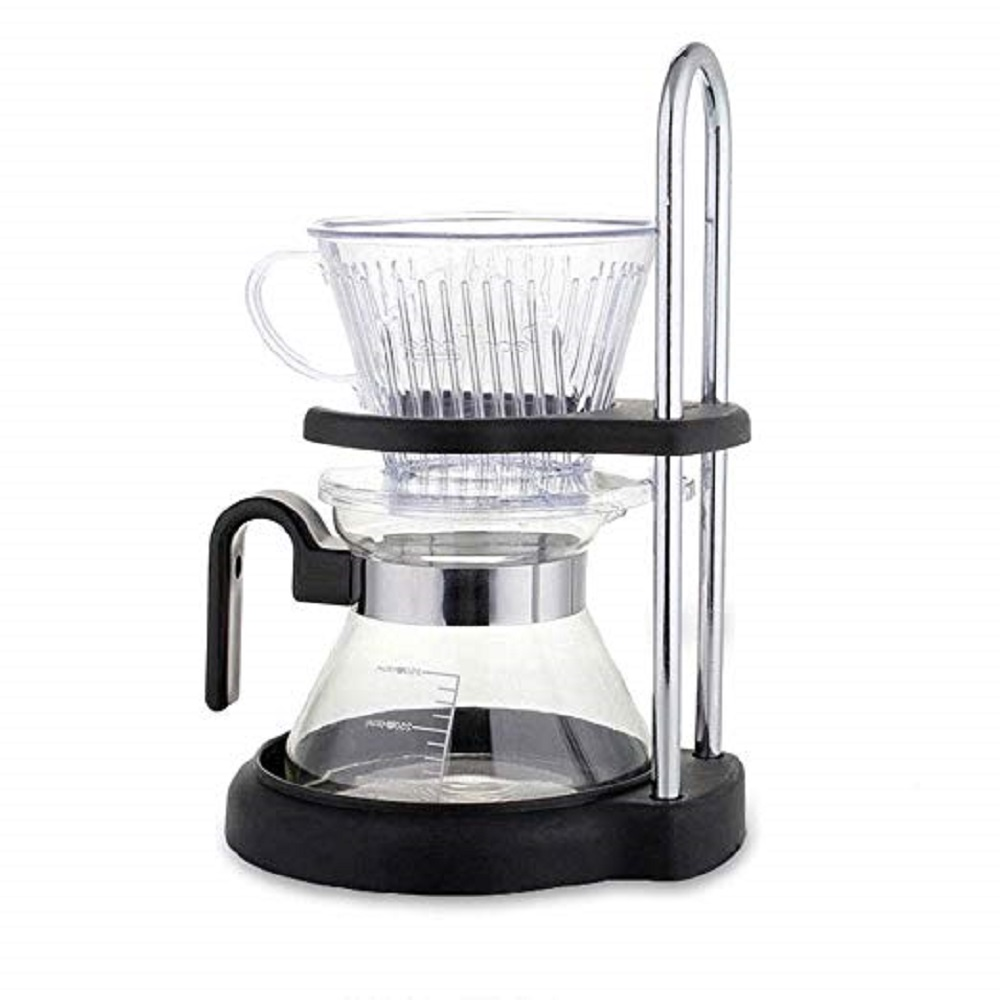 YUEWO DIY Manual Glass Coffee Grinder, With Drop Filter, Resin Filter, Set Of Pans