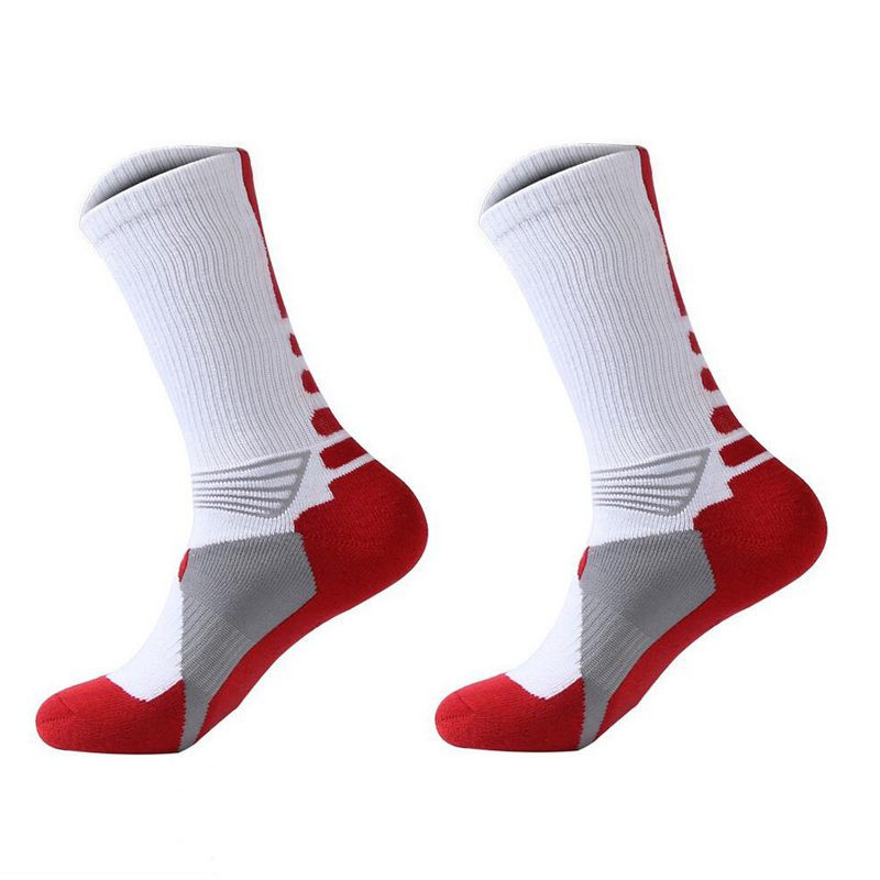 1 Pair Professional Basketball Socks Athletics Socks Outdoor Sports Socks Stocking(white ...
