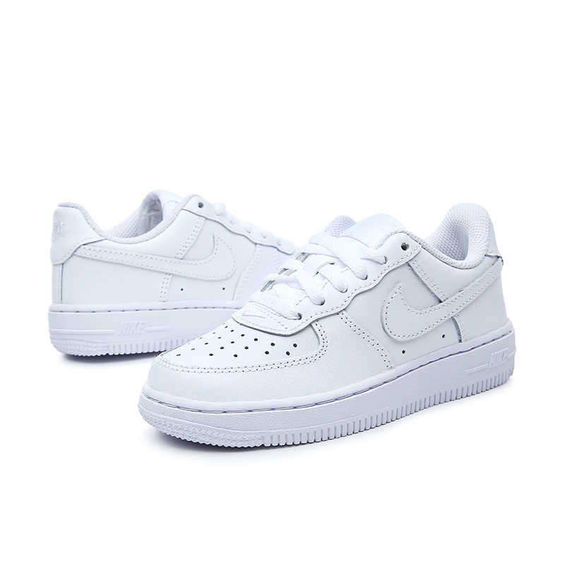 7bfe839cd40 ... NIKE Kids FORCE 1 New Arrival Child White Sports Shoes Casual Sneakers  Breathable Skateboarding Shoes 314193 ...